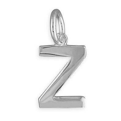Silver Initial Necklace - Z