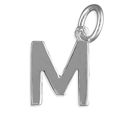 Silver Initial Necklace - M