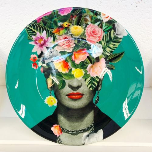 Frida Floral Green Plate