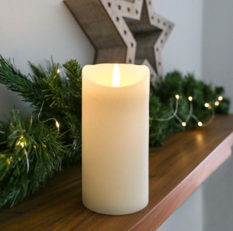 Ivory Flicker 15cm Candle