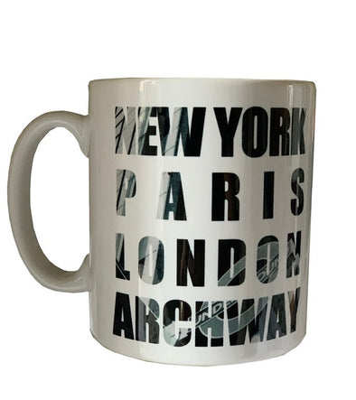 New York Paris London Archway Mug