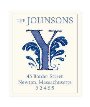 Delftware Y - Return Address Labels