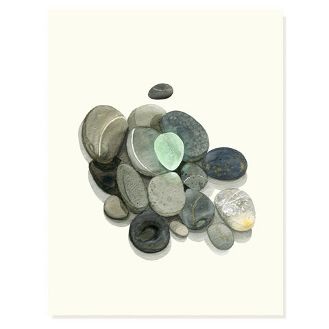 Sea Glass and Stones