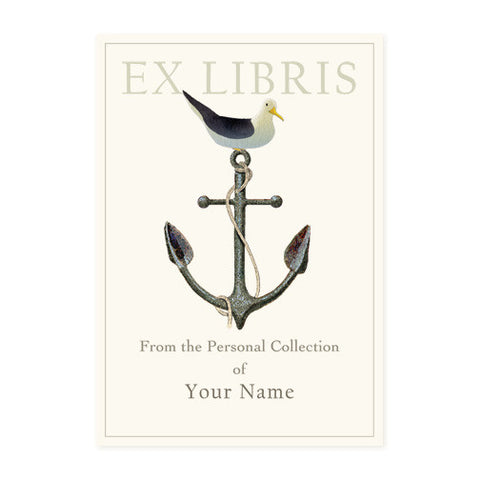 Seagull on Anchor - Bookplates