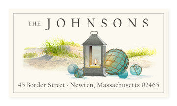 By the Sea - Panoramic Return Address Labels
