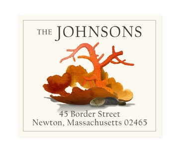 Red Coral - Return Address Labels