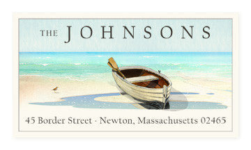 Resting Dinghy - Panoramic Return Address Labels