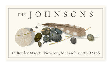 Feather and Stone - Panoramic Return Address Labels