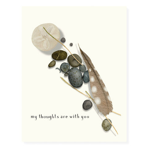 Feather and Stones - Occasion Card