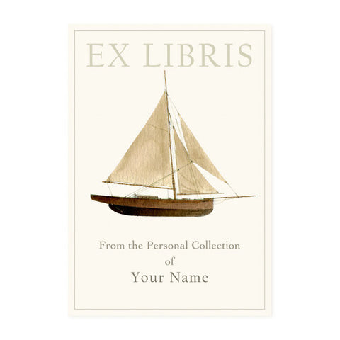 Wooden Sailboat - Bookplates