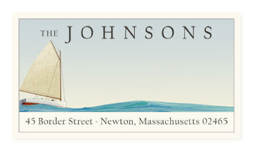 Yachting - Panoramic Return Address Labels