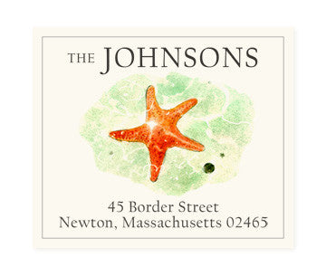 Red Star - Return Address Labels