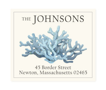 Light Blue - Return Address Labels