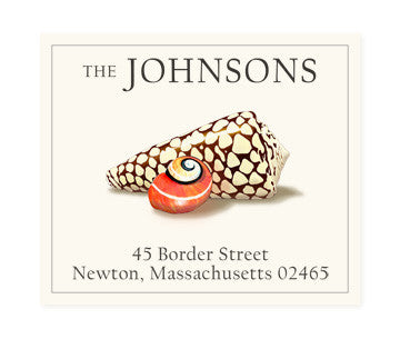 Spotted Seashell - Return Address Labels