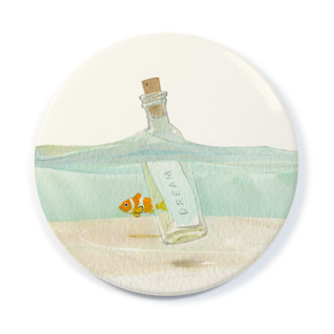 Message In A Bottle - Pocket Mirror
