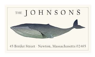 Blue Whale - Panoramic Return Address Labels