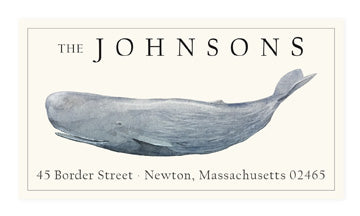 Sperm Whale - Panoramic Return Address Labels