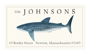 Whale Shark - Panoramic Return Address Labels