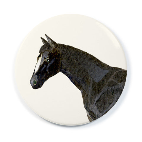 Charcoal Grey Horse - Pocket Mirror