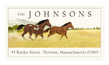 Mustangs - Panoramic Return Address Labels