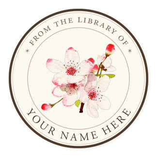 Apple Blossoms - Ex Libris Medallions