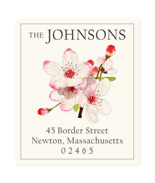 Apple Blossoms - Return Address Labels