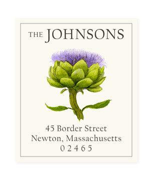 Artichoke Flower - Return Address Labels