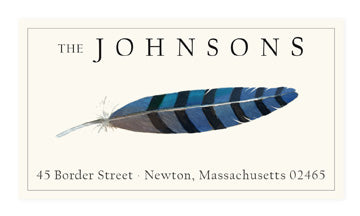 Blue Jay - Panoramic Return Address Labels