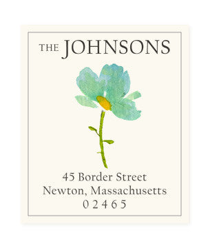 Blue Petals - Return Address Labels