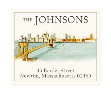 Brooklyn Bridge - Return Address Labels