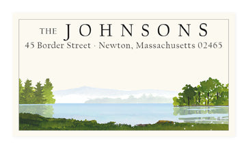 By the Lake - Panoramic Return Address Labels