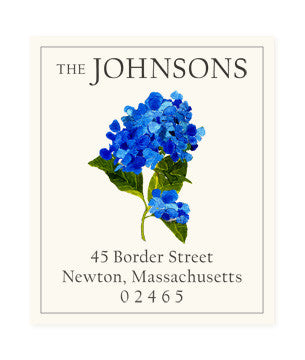 Cape Blue - Return Address Labels