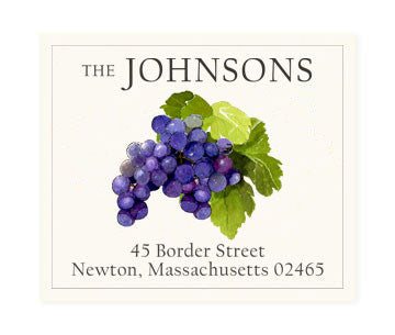 Grapes Noir - Return Address Labels