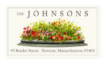 Garden Flowers - Panoramic Return Address Labels