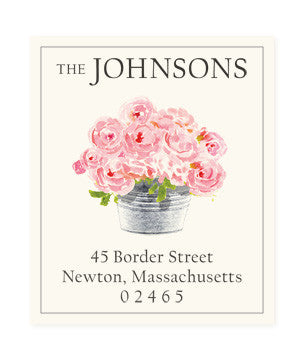 Happiness is Pink - Return Address Labels