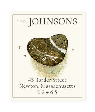 Heart-Shaped Rock - Return Address Labels