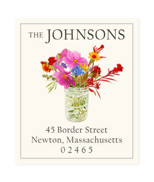Meadow Bouquet - Return Address Labels