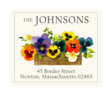 Pansy Box - Return Address Labels