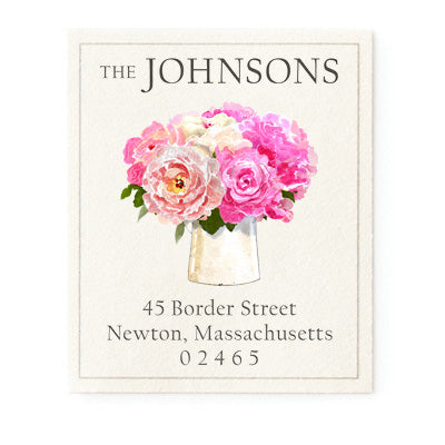 Pretty Peonies - Return Address Labels