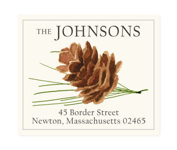 Pine Cone - Return Address Labels