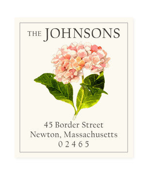 Pink Hydrangeas - Return Address Labels