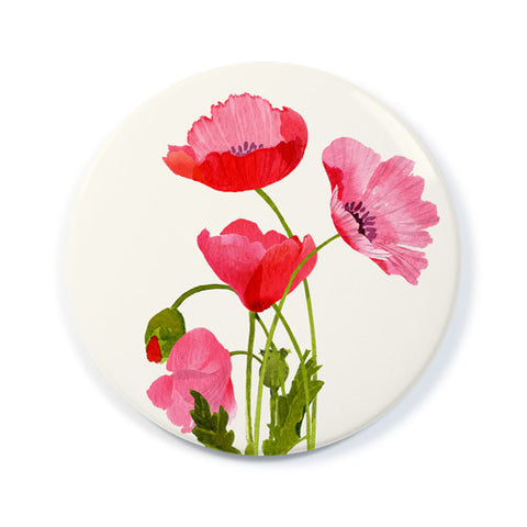 Pink Poppies - Pocket Mirror