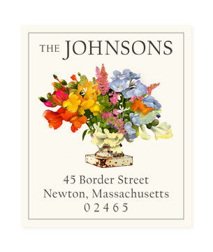 Rainbow Arrangement - Return Address Labels