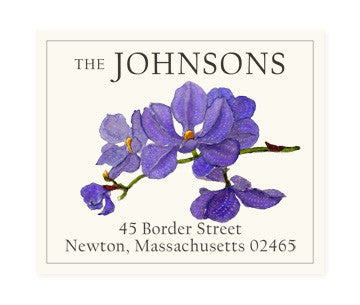 Sapphire Orchid - Return Address Labels