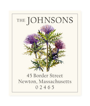 Scottish Thistle - Return Address Labels