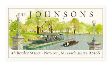Swan Boat - Panoramic Return Address Labels