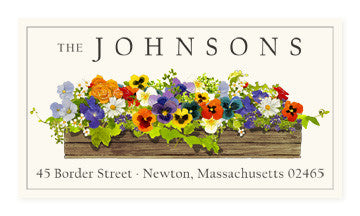 Window Box - Panoramic Return Address Labels