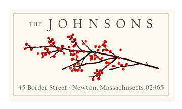Winter Berries - Panoramic Return Address Labels