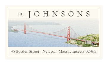 Golden Gate Bridge - Panoramic Return Address Labels