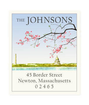 Capital Blossoms - Return Address Labels